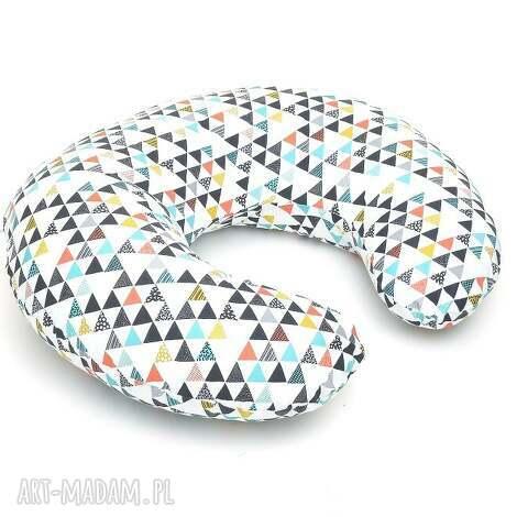 rogal do karmienia fasolka poduszka kolorowe trójkąty - poduszka, rogal, fasolka