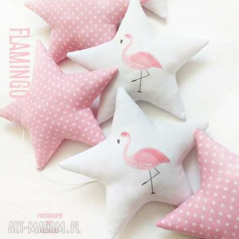 flamingo - girlanda - girlanda, gwiazdka, gwiazdki, flaming, flamingi