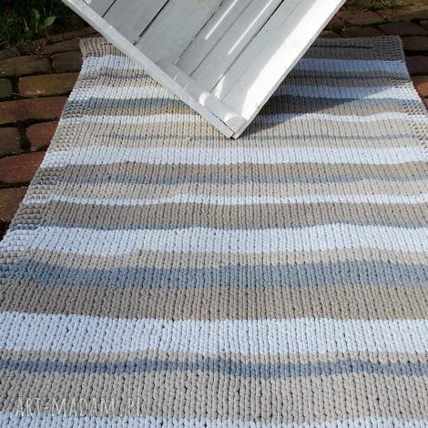 zmiksowany prostokątny dywan, sznurek, bawełna, druty dywany dom