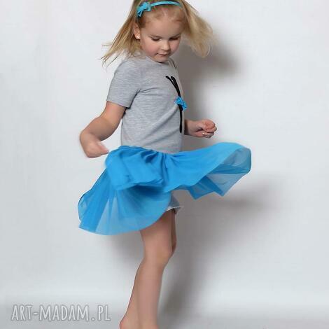 ubranka tiulowa baletnica krótki rękawa turkus, baletnica, tiulowa, tiul, elegancka