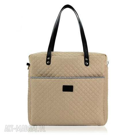 torebka shopperka 1018 - shopperka, pojemna, podręczna