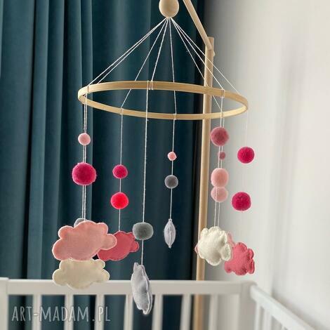 karuzela nad łóżeczko - filcowe chmurki karuzela nad lozeczko dziecko, prezent