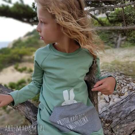 tunika dla dziewczynki a kuku, tunika, dziewczynka, królik, sukienka, ubranka
