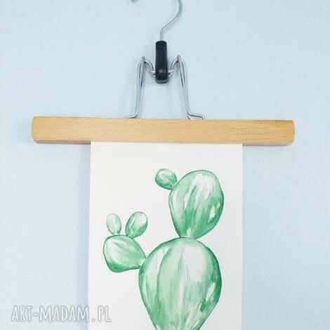 kartka malowana akwarelą kaktus, plants, sukulenty, roślinki, akwarela