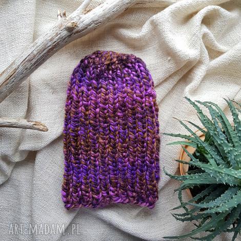 wełniana czapka ciepła unisex, ciepła czapka, wełna, beanie, prezent