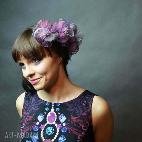 ozdoby do włosów kwiatki, spinki, fiolet, fioletowy, ślub, wyjątkowy