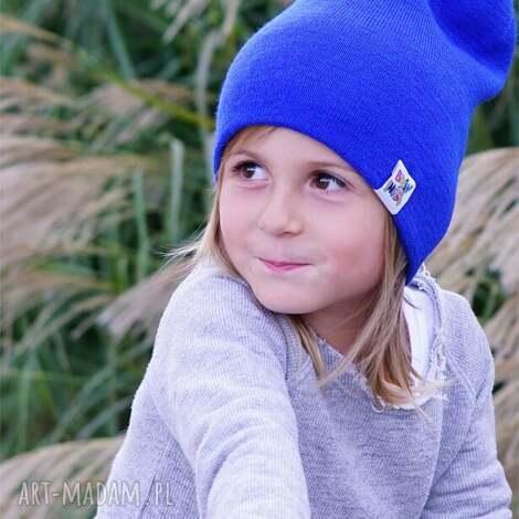 pokojowy granat czapka, beanie, czapka niebieska, dziecięca, na jesien
