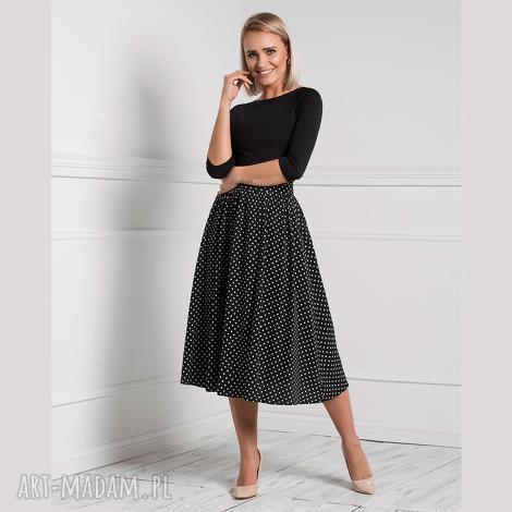 spódnica iza total midi donata grochy średnie, elegancka spódnica, spódnia