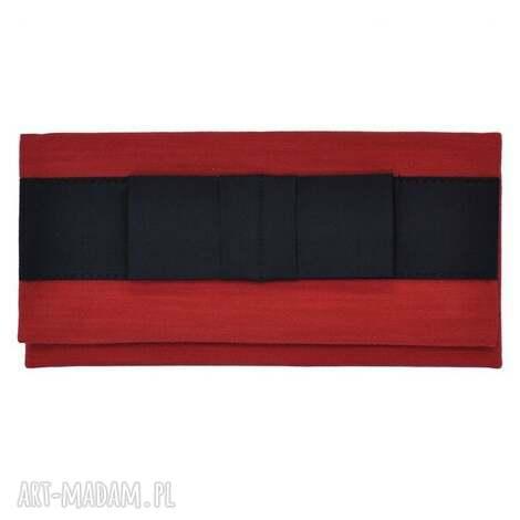 03-0009 czerwona torebka kopertówka wieczorowa do ręki crow, ekskluzywne, oryginalne
