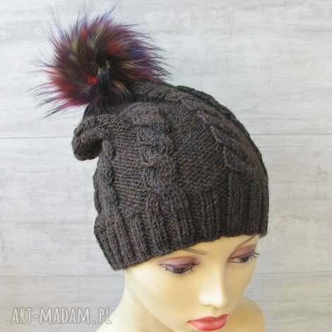 czapka zimowa z pomponem unisex - czapka zimowa, męska czapka, ciepła czapka