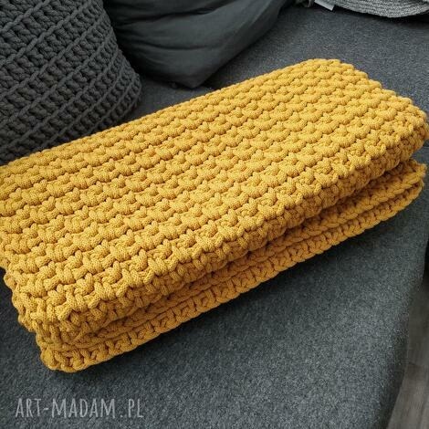 koce i narzuty narzuta na łóżko 200x50cm handmade sznurek bawełniany szydełko