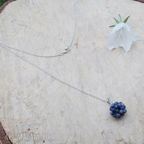 JewelsbyKT: szafirowe kule - naszyjnik, srebrna biżuteria, srebrny naszyjnik, szafiry