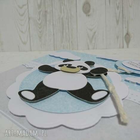 zaproszenie kartka panda na powitanie - panda, narodziny, witaj, urodziny, zaproszenie