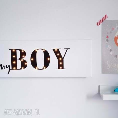 ŚwiecĄcy napis myboy prezent dekoracja chłopiec - prezent, lampka, chłopca
