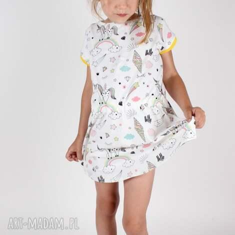 sukienka z jednoroŻcem - sukienka, dziecko, lato, wakacje, jednorozec