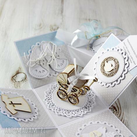 kartka - pudełko z okazji chrztu świętego box chrzest