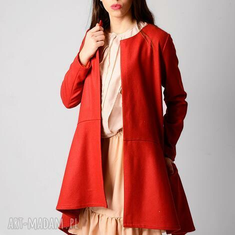 Non Tess: wełniany płaszcz z dłuższymi bokami, wiosenny, wełna, lekki, asymetria