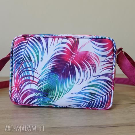 single bag - tropikalne liście, elegancka, nowoczesna, prezent, święta, wesele