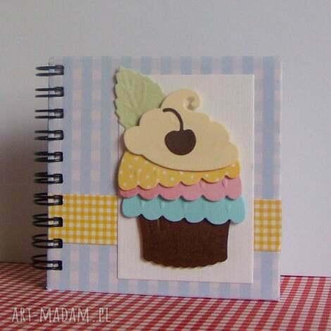 damusia mały notesik kulinarny - czekoladowa wisienka, notes