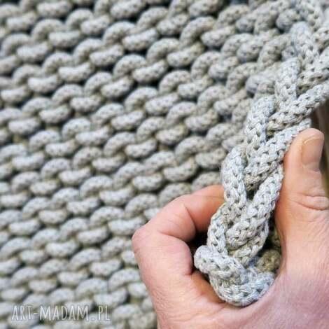 siedlisko na wygonie dywan z bawełnianego sznurka xl 120 x 200 cm, rękodzieło, dziany
