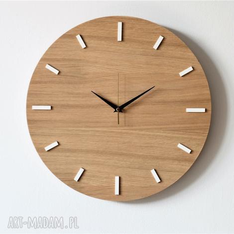 40 cm, zegar ścienny dąb, nowoczesny zegar, drewniany