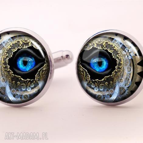 steampunkowe oko - spinki do mankietów - steampunk, oko, spinki, mankietów, facet