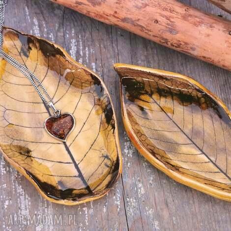 jesienne listki ceramiczne c39, liście, podstawki, jesienne, ceramika