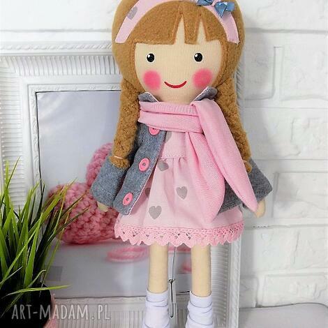 lalki malowana lala laura z szalikiem, lalka, zabawka, przytulanka, prezent