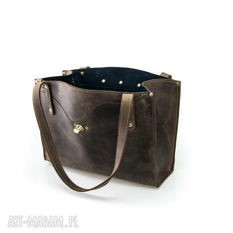 skórzana torebka w stylu vintage wykonana ręcznie przez ladybuq art, idealna