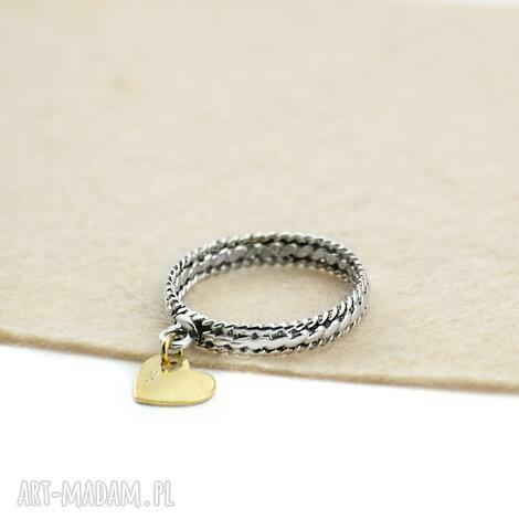 pod choinkę prezenty, pierścionek z sercem, srebrny, srebro 925