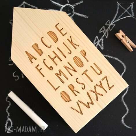 domki drewniane - dom, domek, domki, lis, wieża, alfabet