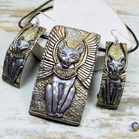 komplety bastet - komplet biżuterii inspirowany starożytnym egiptem, bastet, kot