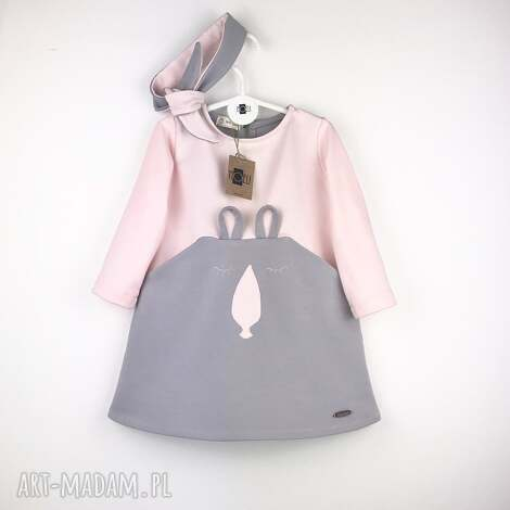 oryginalny prezent, noeli sukienka bunny z opaska, dresowa, bunny