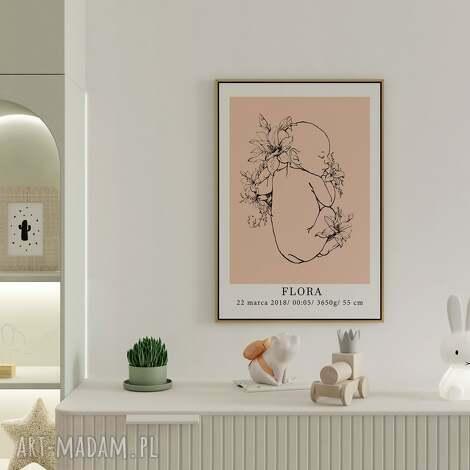personalizowana metryczka no.2 50x70 (plakat dla dziewczynki, plakat dla chłopca)