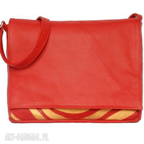 teczki 35-0007 czerwona torebka aktówka damska do szkoły i studia robin