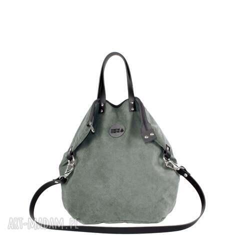 pracownia mana plecak torba 2 in1 ruby jasno-szary, plecak, torba