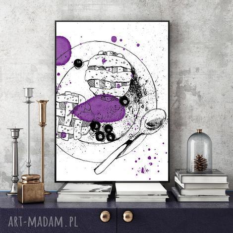 odrobina słodyczy ilustracja a4, kuchnia, deser, ilustracja, grafika, obraz, ciastko