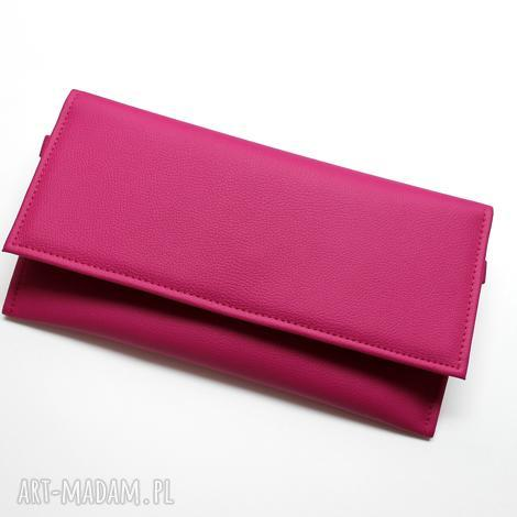 kopertówka - fuksja, elegancka, nowoczesna, wizytowa, prezent, wesele, pod