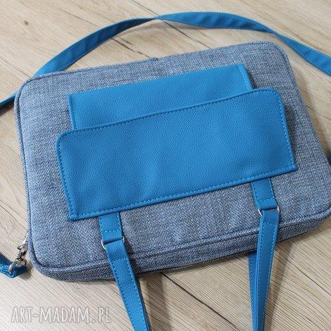torba na laptop - niebieska, elegancka, laptop, pakowna, prezent, święta