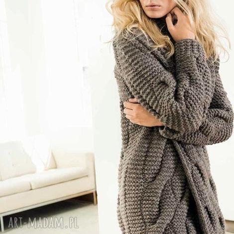 swetry sweter płaszcz ottawa, sweter, płaszcz, gruby, wełniany, kobiecy