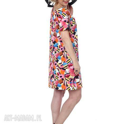 ciekawa tunika lub sukienka, idealna na lato, najwyższa jakość, designerska