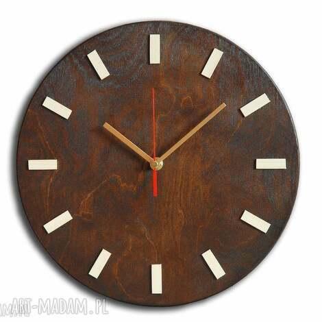 bezgłośny scandi clock - zegar drewniany 30 cm, wenge, zegar, drewniany, skandynawski