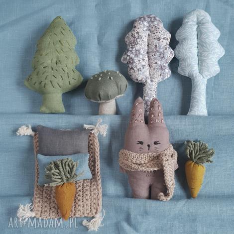 zestaw leśne zwierzątka-zając, zwierzęta, królik, zając, zabawek