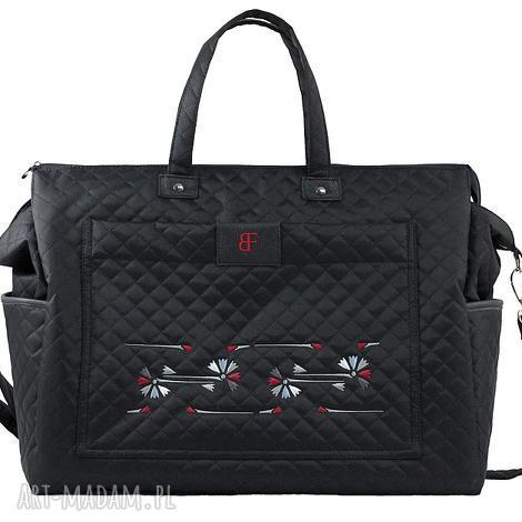 torba sportowa love sport 377, podróżna, pikowana, haftowana, torebki