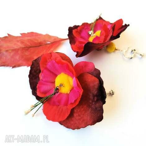 klipsy kwiaty duze lekkie box x1, klipsy, boho, retro, kwiaty, etno, folk