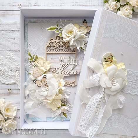 Made by Kate - kartka a5 na ślub w pudełku, kartka na ślub
