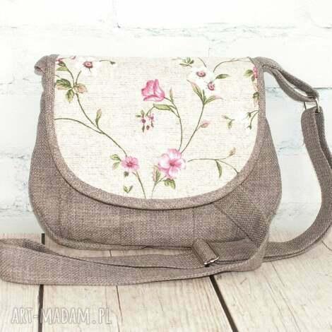 mini pole kwiatki, kwiaty, len, kwiatuszki, kwiatowy, prezent, romantyczna torebki