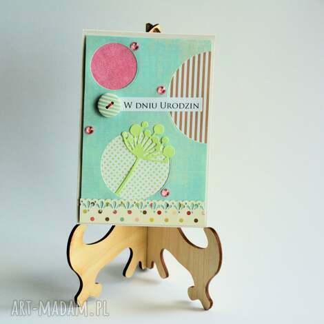 kartka - w dniu urodzin 3 - kartka, elegancka, urodzinowa, kobieta, romantyczna, stylowa