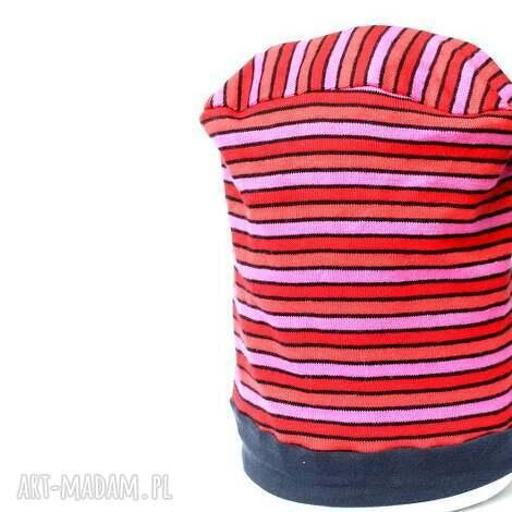 czapka unisex damska męska - czapka, unisex, wiosna, paski, sport