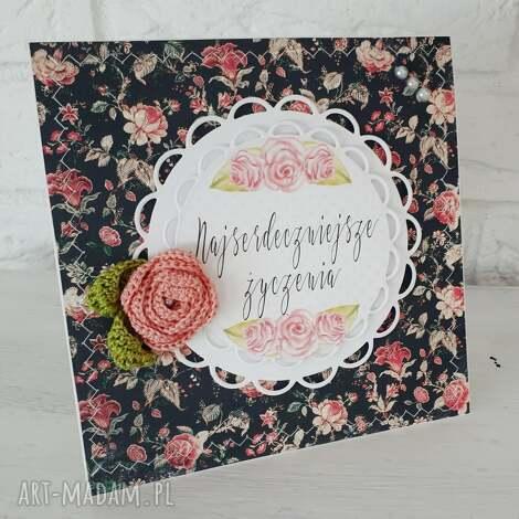 kartka urodzinowa imieninowa - kartka, urodziny, prezent, imieniny, scrapbooking
